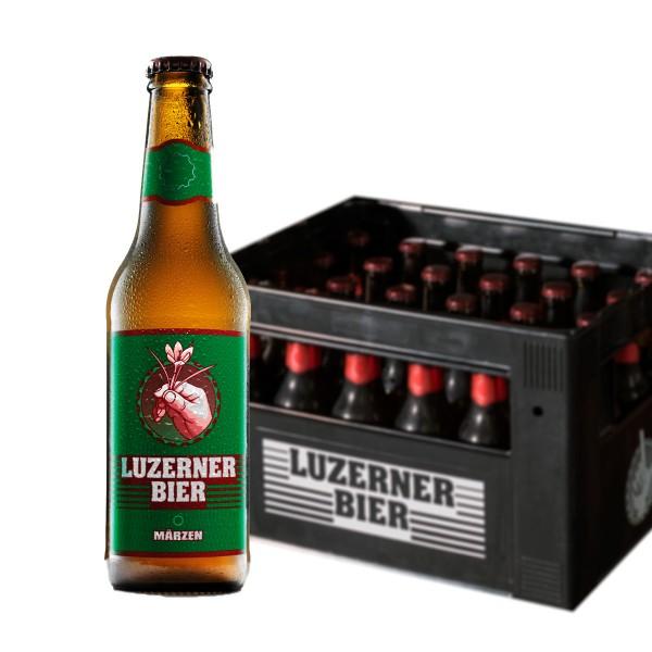 LUZERNER Bier MÄRZEN Kiste 24 x 330 ml / 5.3 % Schweiz