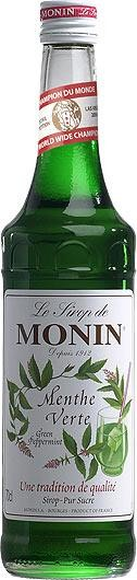MONIN Premium Menthe Verte / Green Peppermint Sirup 70 cl Frankreich