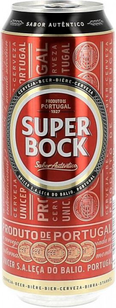SUPER BOCK Bier Dose Kiste 24 x 500 ml / 5.2 % Portugal