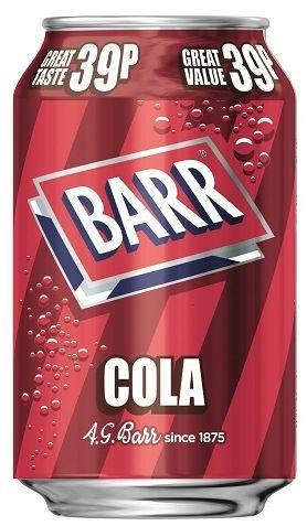 BARR COLA Zuckerfrei 330 ml UK