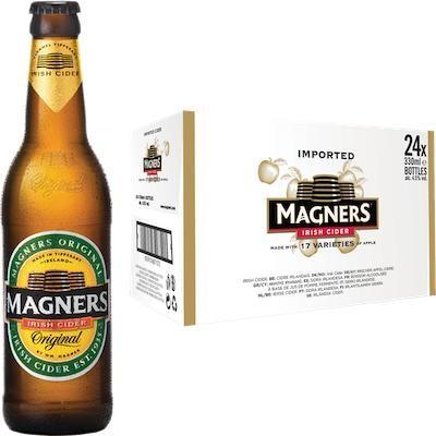 MAGNERS Original Irish Cider Kiste 24 x 330 ml / 4.5 % Irland