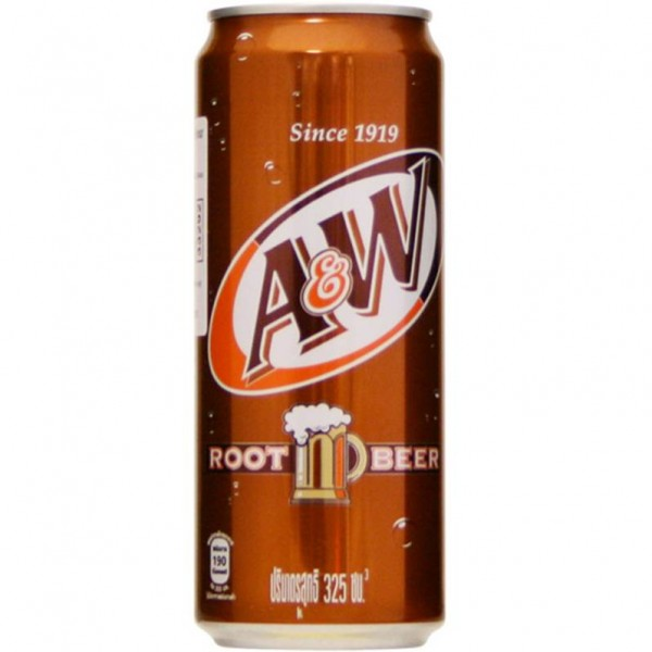 A&W Root Beer 325 ml Thailand