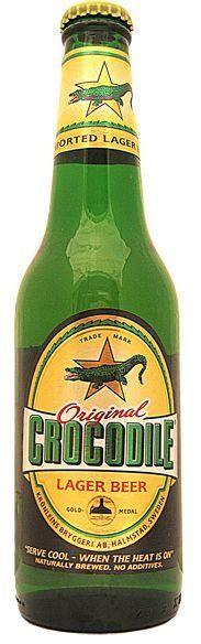 Crocodile Lager Beer Kiste 24 x 330 ml / 5.2 % Schweden