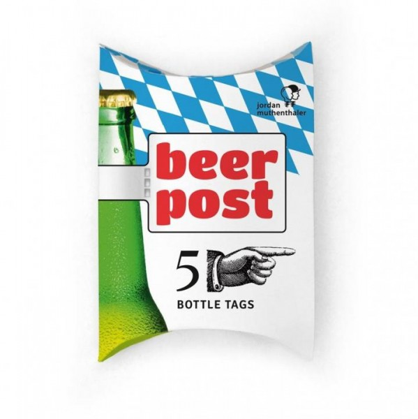 Bottle Tags BEER POST 5 Drink Markes by jordan muthenthaler