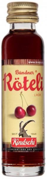 Bündner Röteli Likör 20 ml / 22 % Schweiz