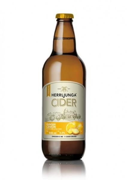 HERRLJUNGA Cider GINGER-LEMON Glasflasche 500 ml / 4 % Schweden