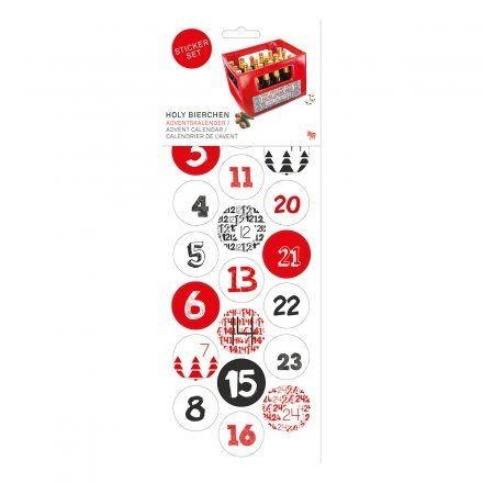 Adventskalender STICKER 24 Stück by Donkey Products UK