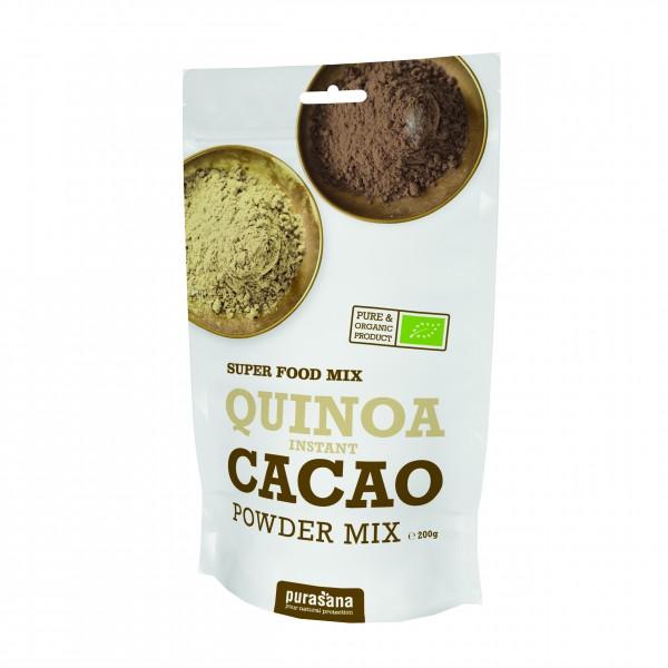 Purasana Superfood QUINOA - CACAO Powder Mix 200 Gramm