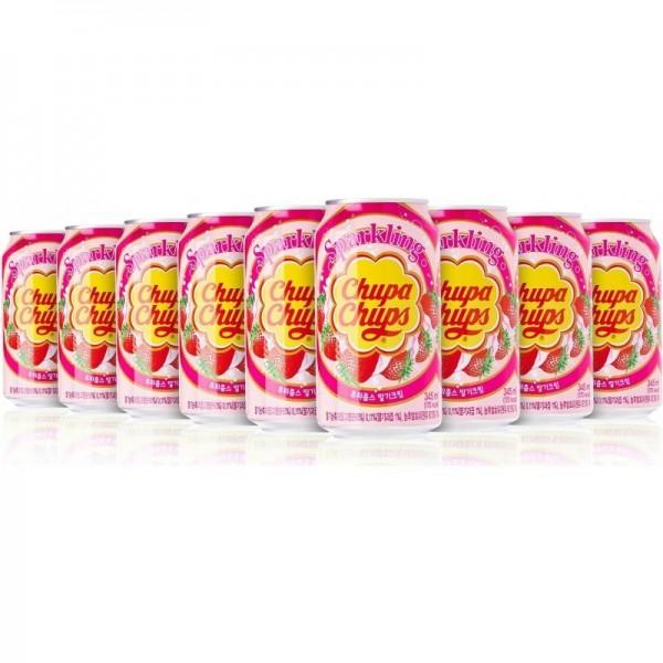 Chupa Chups STRAWBERRY Cream Kiste 24 x 345 ml Korea