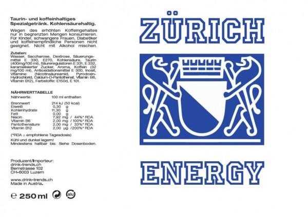 ZÜRICH Energy Drink 250 ml Österreich