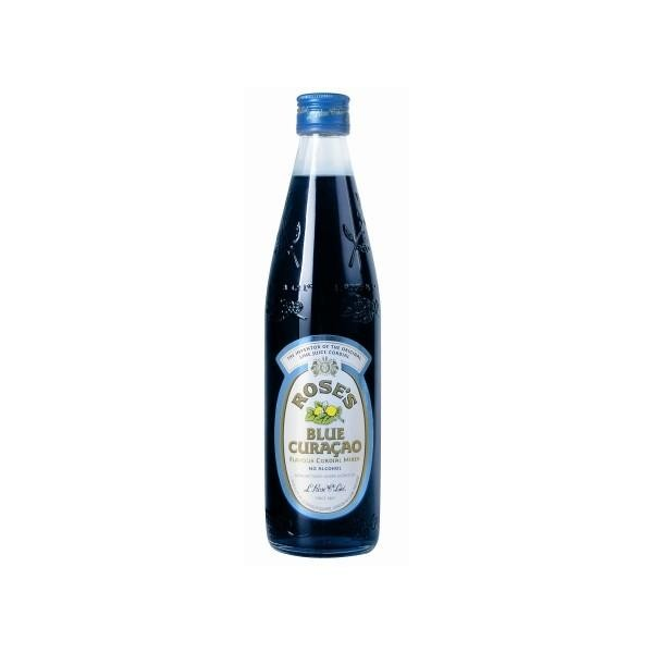 ROSE'S BLUE CURACAO Flavour Cordial Mixer 57 cl Dänemark