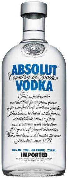 Absolut BLUE 70 cl / 40 % Schweden