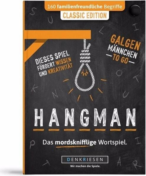 Denkriesen HANGMAN- ROTLICHT EDITION - Trinkspiel - Galgenmännchen TO GO Deutschland