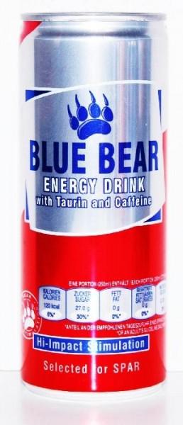 BLUE BEAR Energy Drink 24 x 250 ml UK