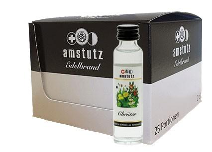 amstutz Edelbrand CHRÜTER PORTION Box 25 x 2 cl / 40 % Schweiz