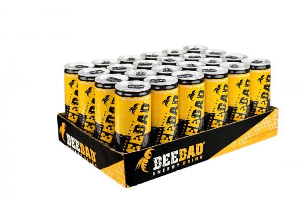 BEEBAD Energy Drink Kiste 24 x 250 ml Italien