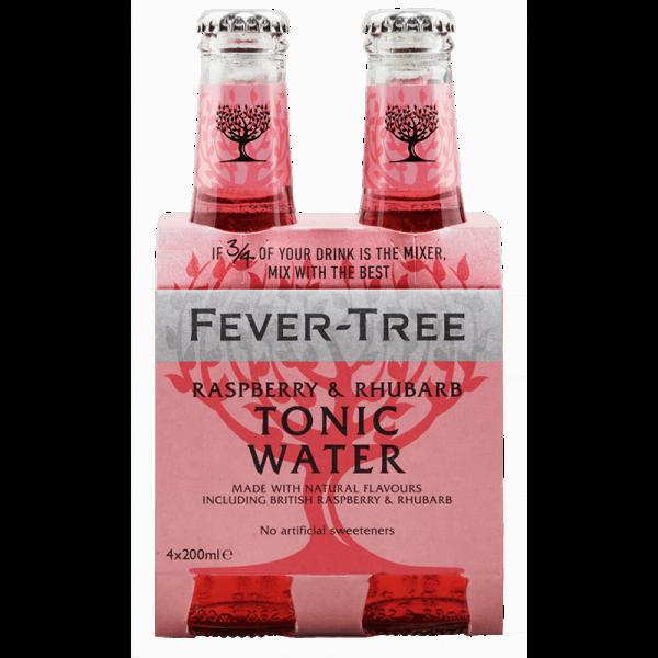 FEVER-TREE RASPBERRY & RHUBARB TONIC Water Kiste 24 x 200 ml UK