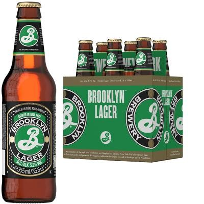 BROOKLYN Lager Bier Kiste 24 x 355 ml / 5 % USA