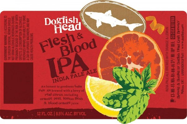 DOGFISH Flesh & Blood IPA Dosen Case 24 x 355 ml / 7.5 % USA