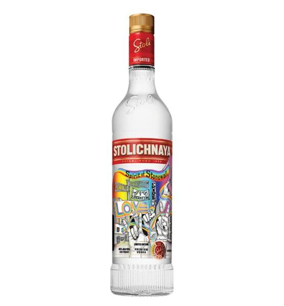 STOLICHNAYA Vodka LGBT STONEWALL Limited Edition 1 Liter / 40 % Russland