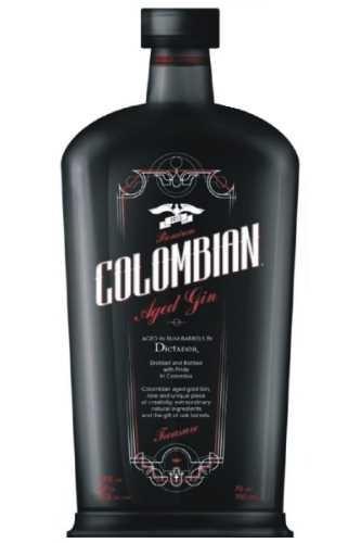 COLOMBIAN Aged Gin Black TREASURE 70 cl / 43 % Kolumbien