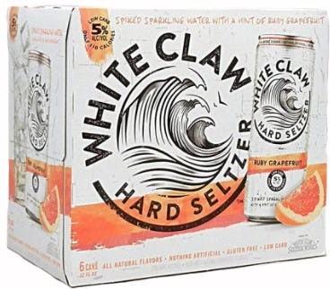 White Claw HARD SELTZER RUBY GRAPEFRUIT Kiste 24 x 355 ml / 5 % USA