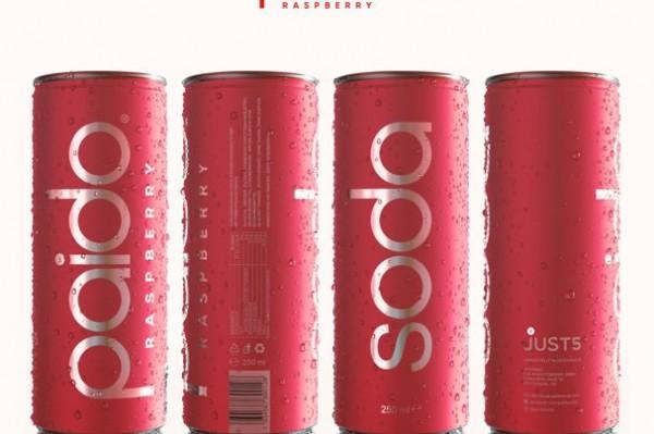 Paido Soda RASPBERRY kalorienarmes Erfrischungsgetränk Kiste 24 x 250 ml Schweiz
