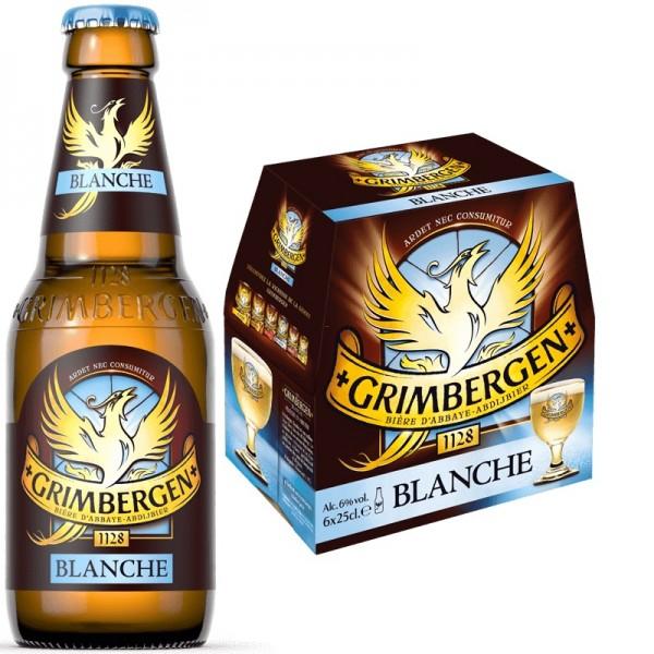 GRIMBERGEN Blanche Bier Kiste 24 x 250 ml / 6 % Belgien