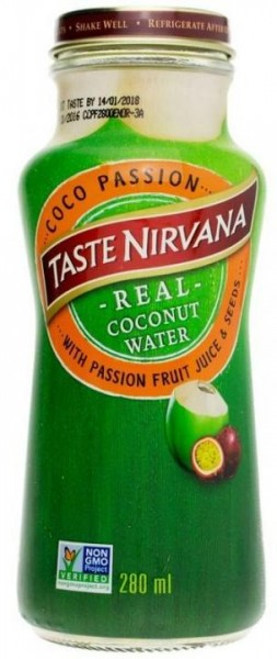 Taste Nirvana Real Coconut Water Coco Passion 280 ml Thailand
