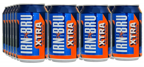 IRN BRU XTRA / LOW CALORIE Kiste 24 x 330 ml Schottland