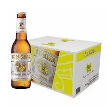 SINGHA Import Lager Beer Case 24 x 330 ml / 5 % Thailand