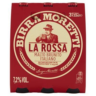 Birra MORETTI La Rossa Case 24 x 330 ml / 7.2 % Italien