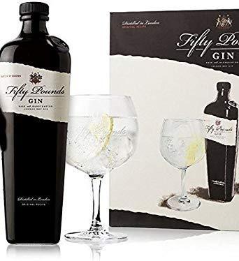 FIFTY POUNDS Gin Set mit Glas 70 cl / 43.5 % UK