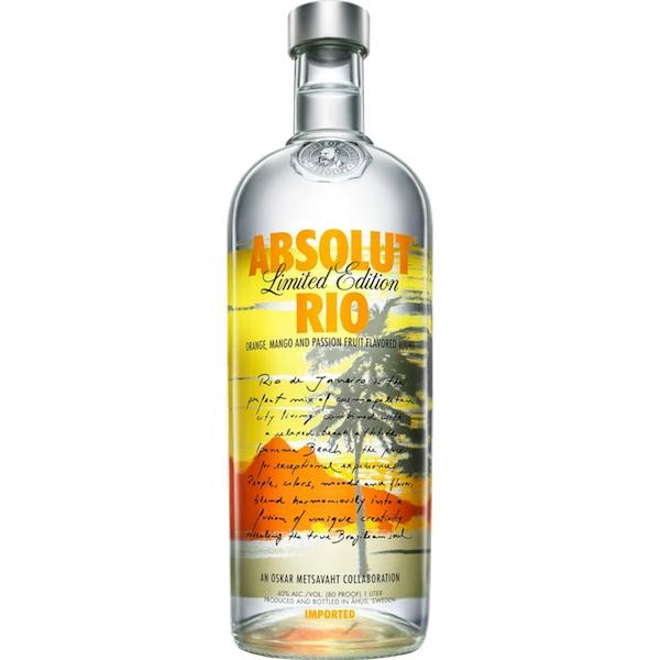 Absolut Vodka RIO Limited Edition 100 cl / 40 % Schweden