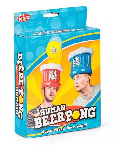 Drinking game HUMAN BEER PONG inflatable hats and Ball by Tobar
