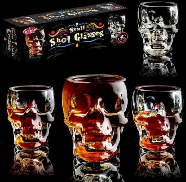 Skull Shot Gläser Set 4 x 50 ml by Tobar