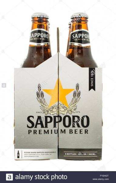 SAPPORO Premium Beer Case 24 x 330 ml / 4.7 % Japan