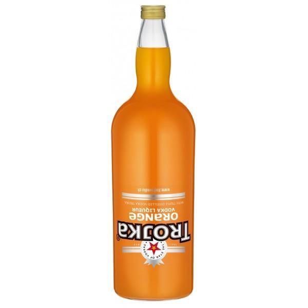 TROJKA ORANGE Vodka Likör Gallone 4.55 Liter / 17 % Schweiz