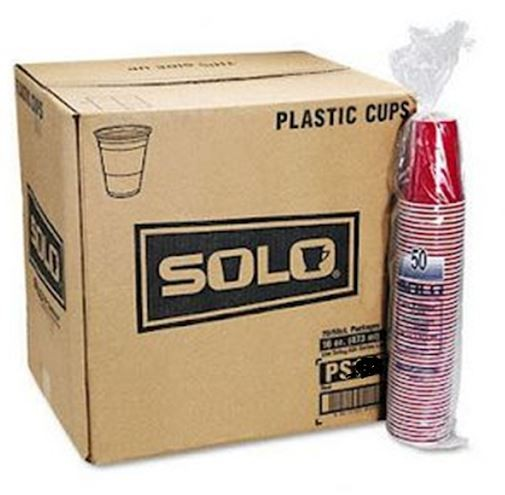 Solo RED Cups 12 oz - Beer Pong Becher Kiste 20 x 50 Stk. x 12 oz / 355 ml USA