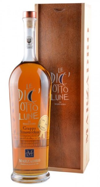 Marzadro GRAPPA 18 Le Diciotto Lune MAGNUM in edler Holzbox 1.5 Liter / 41 % Italien