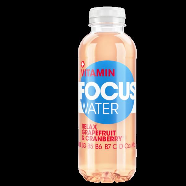 FOCUS Vitamin RELAX Grapefruit & Cranberry PET 500 ml Schweiz