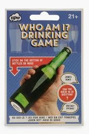 Trinkspiel WHO AM I? Drinking Game mit 30 lustigen Stickern