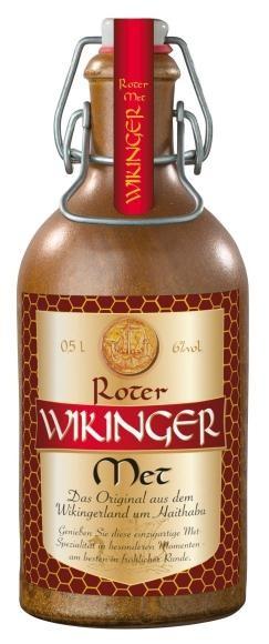 HONIG - MET Wikinger Rot mit Kirschsaft STEINGUTFLASCHE 50 cl / 6 % Deutschland