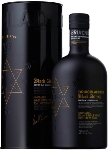 Bruichladdich Black Art 1990 Edition 04.1 - 23 Years Single Malt Scotch Whisky 70 cl / 49.2 % Schottland