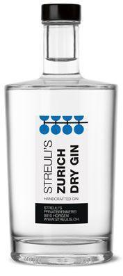 ZUERICH Dry Gin by STREULI'S Privatbrennerei 70 cl / 46 % Schweiz