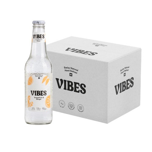 VIBES Hard Seltzer Grapefruit & Ginger Kiste 24 x 330 ml / 4 % Schweiz