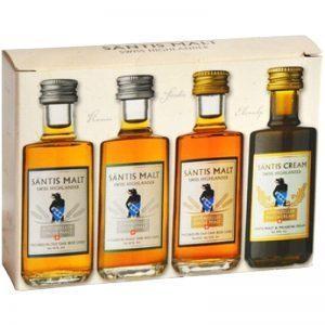 Säntis Malt Appenzeller Single Malt Whisky SET Miniaturen 4 x 4 cl Schweiz