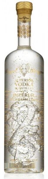 ROYAL DRAGON Superior Vodka DOPPELMAGNUM Imperial mit 23 Karat Blattgold 3 LITER / 40 % Russland