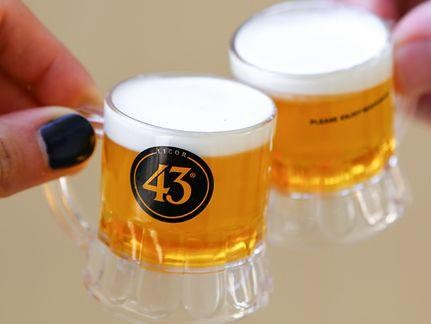LICOR 43 Shot GLASS Mini Beer about 3 cl content