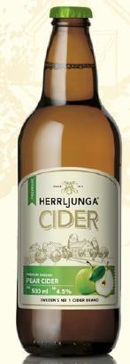 HERRLJUNGA Cider PEAR CIDER Glasflasche 500 ml / 4.5 % Schweden